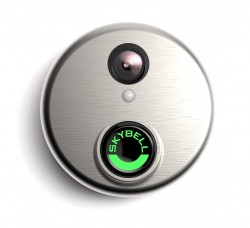 ALARM.COM WIFI DOORBELL CAMERA - SATIN NICKEL