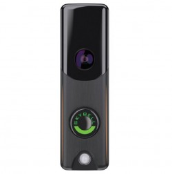 Slim Line Doorbell Camera | Alarm.com (Bronze)