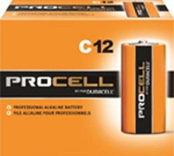C ALKALINE BATTERIES (Price per pack of 12)