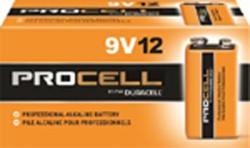 9 VOLT DURACELL BATTERIES (Price per pack of 12)