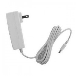 White 9ft long DC power extension cable