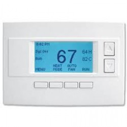 Alarm.com Design Studio Series programmable z-wave thermostat with easy install, enhanced diagnostics, fan control and more
